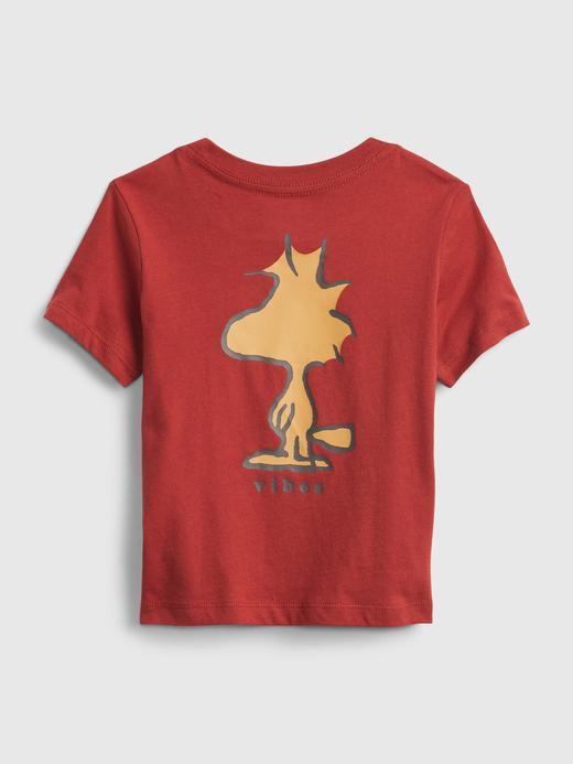 Erkek Bebek Kırmızı babyGap | %100 Organik Pamuk Peanuts Desenli T-Shirt