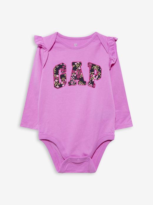 Kız Bebek Mor Gap Logo Baby Bodysuit