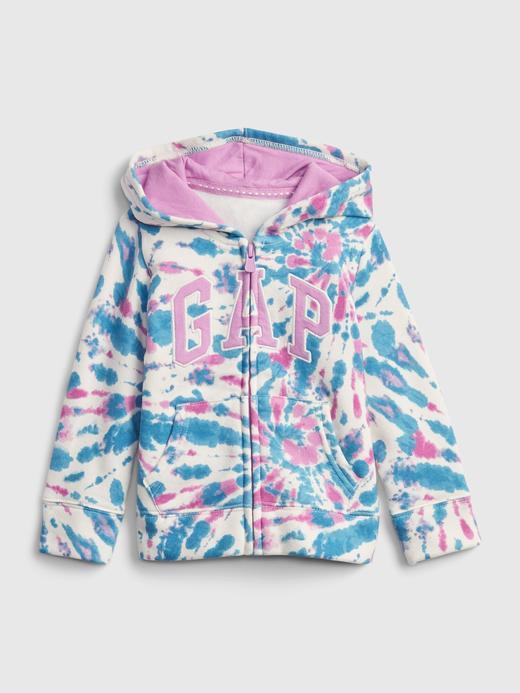 Kız Bebek Çok Renkli Gap Logo Kapüşonlu Sweatshirt