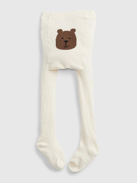 Bebek Bej Ayıcıklı Külotlu Çorap