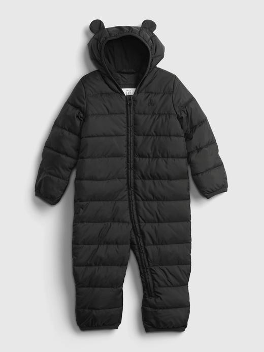 Erkek Bebek Siyah ColdControl Puffer Şişme Tulum