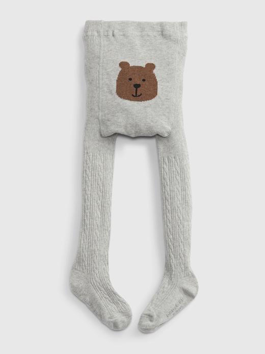 Bebek Gri Ayıcıklı Külotlu Çorap