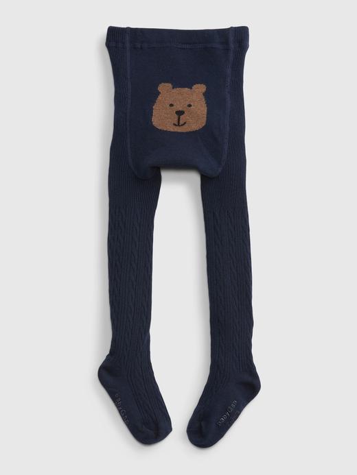 Bebek Lacivert Ayıcıklı Külotlu Çorap