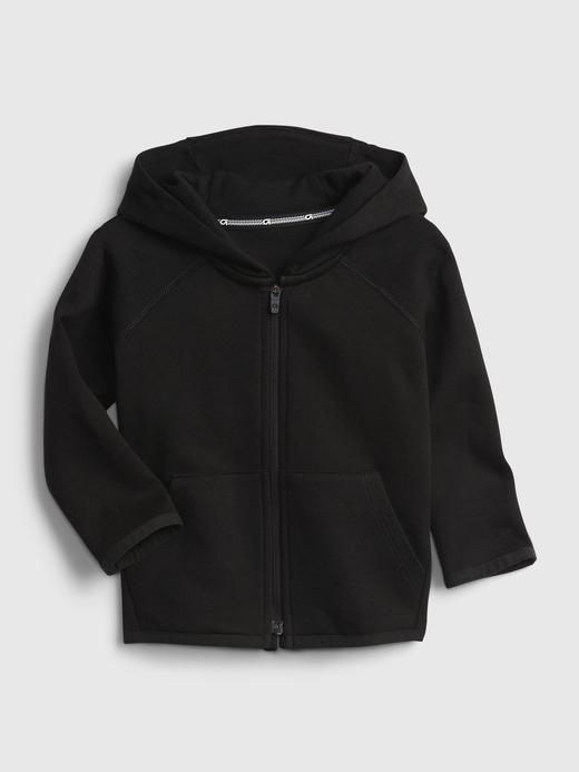 Erkek Bebek Siyah GapFit Fit Tech Kapüşonlu Sweatshirt