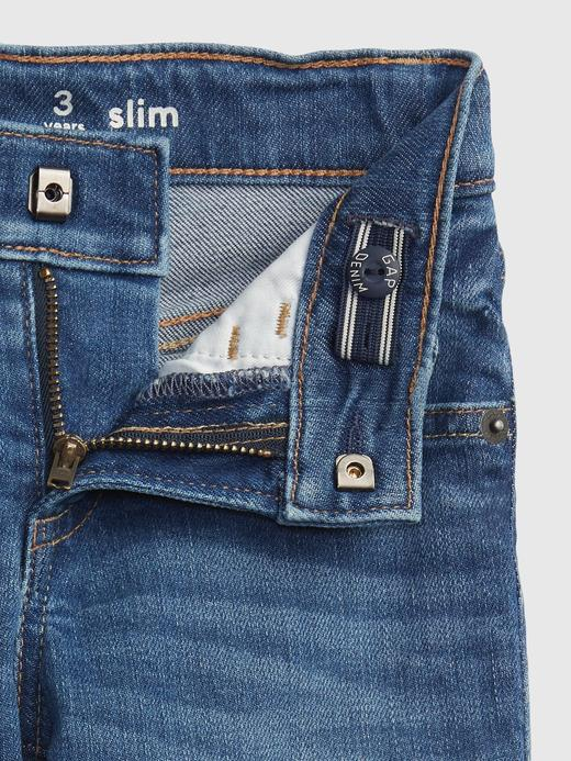 Erkek Bebek Mavi Washwell™ Slim Jean Pantolon