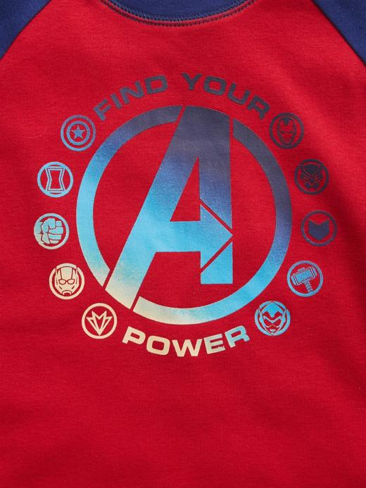 Erkek Çocuk Kırmızı Marvel Avengers %100 Organik Pamuklu Pijama Seti