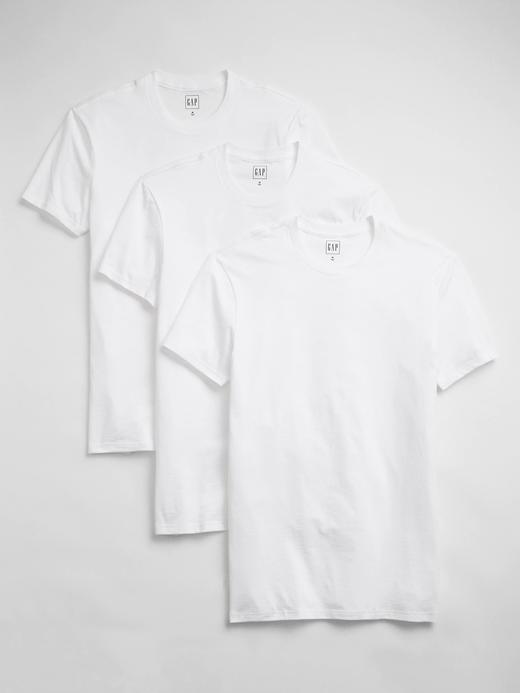 Erkek Beyaz 3'lü T-Shirt Seti