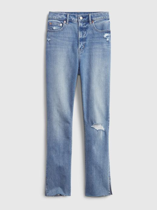 Kadın Mavi Washwell™ Sky High Rise Slim Fit Jean Pantolon