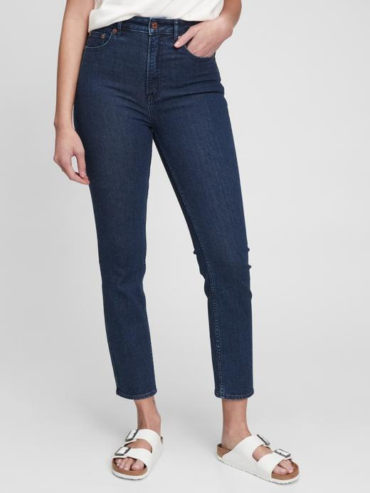 Kadın Lacivert Washwell™ Sky High Rise Slim Fit Jean Pantolon