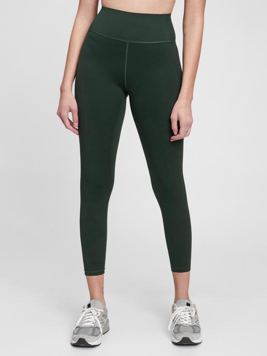 Kadın Yeşil GapFit High Rise 7/8 Legging Tayt