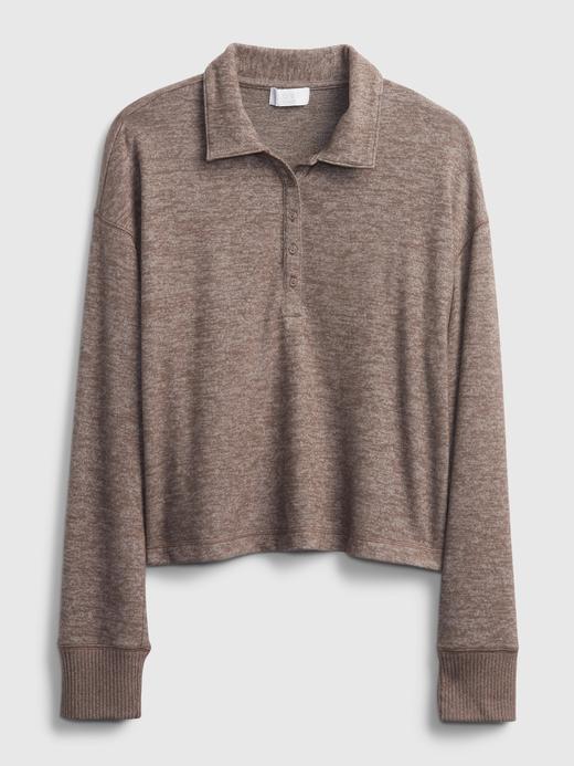 Kadın Pembe Softspun Henley Polo T-Shirt