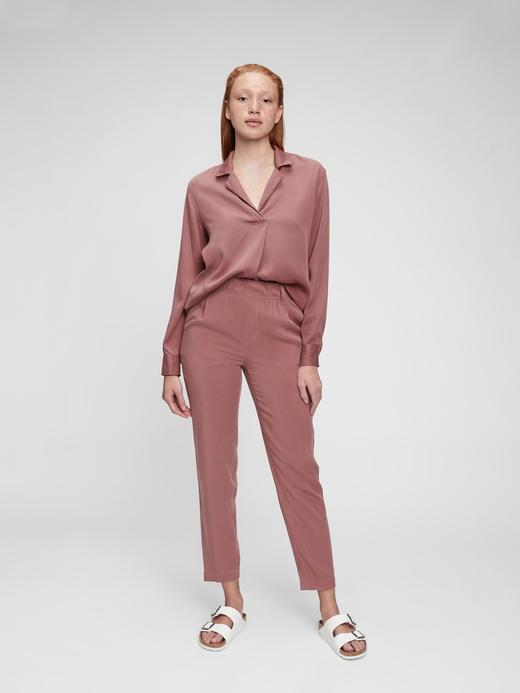 Kadın Pembe TENCEL™ Popover Gömlek