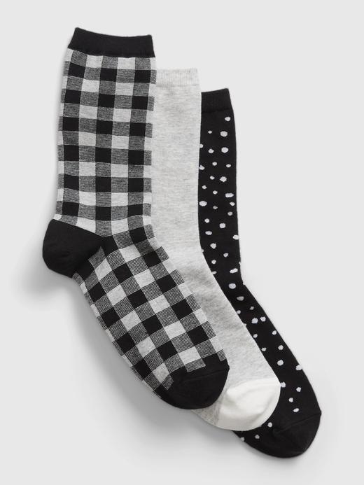 Kadın Siyah 3'lü Çorap Seti