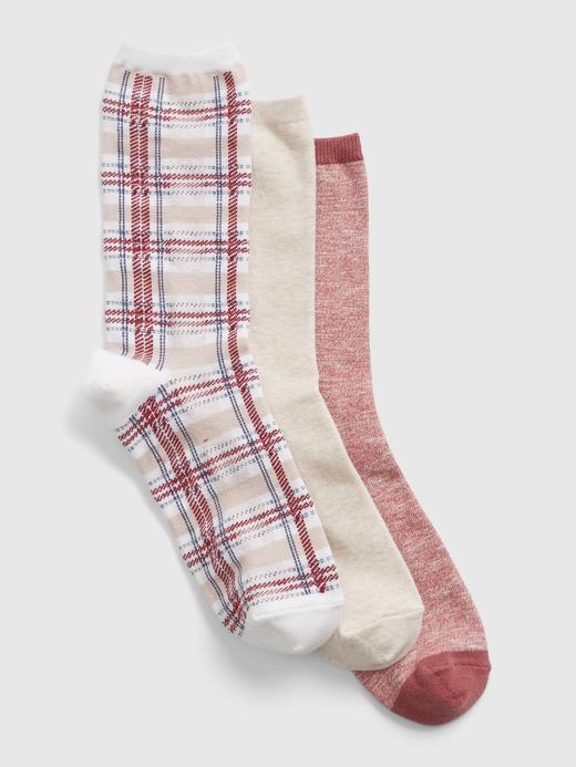 Kadın Kırmızı 3'lü Çorap Seti