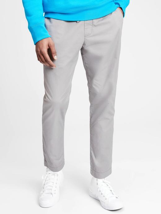 Erkek Gri Saf Pamuklu Easy Pantolon