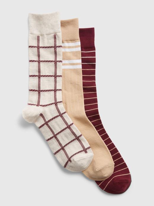 Erkek Çok Renkli 3'lü Desenli Çorap Seti