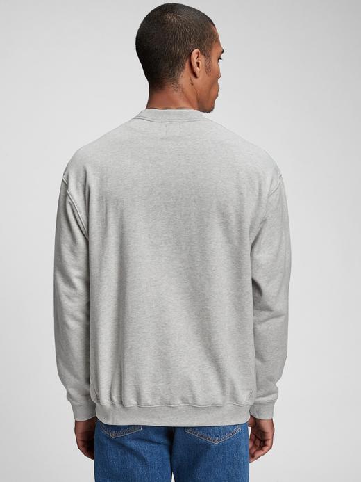 Erkek Yeşil Gap Logo Yuvarlak Yaka Sweatshirt