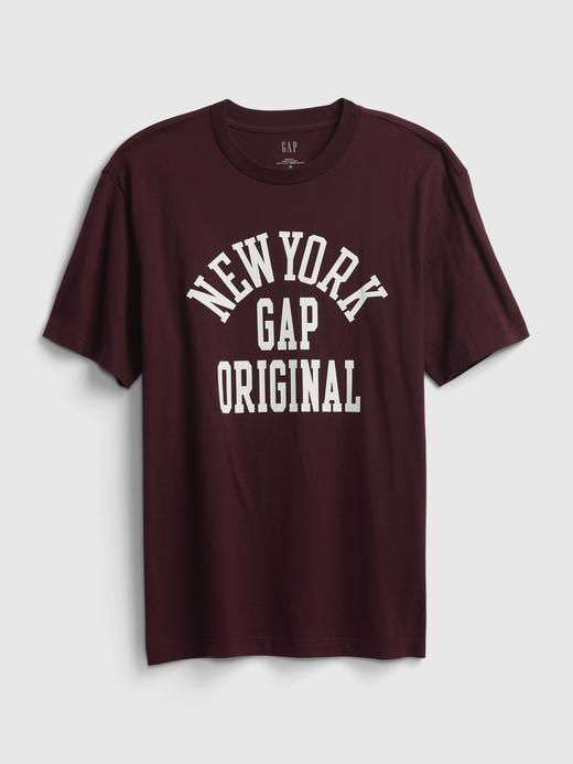 Erkek Mor %100 Organik Pamuk Gap Logo T-Shirt
