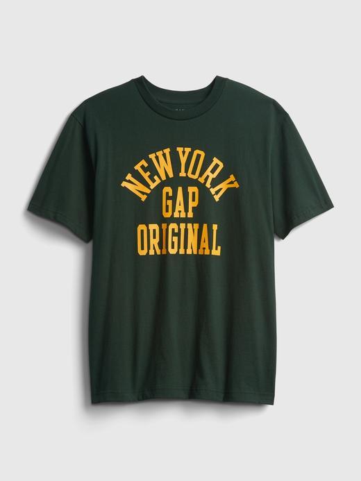 Erkek Yeşil %100 Organik Pamuk Gap Logo T-Shirt