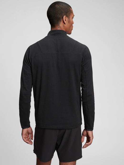 Erkek Siyah Gapfit Yarım Fermuarlı Sweatshirt