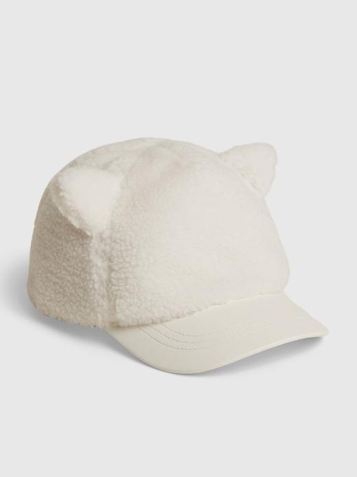 Bebek Beyaz Kedi Kulaklı Şapka