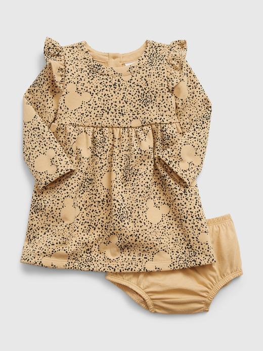 Kız Bebek Kahverengi Disney Mickey Mouse Elbise