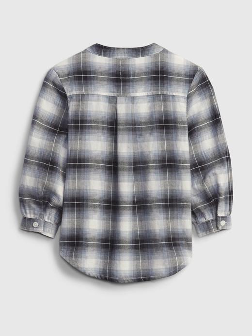 Kız Bebek Bej Oversize Gömlek