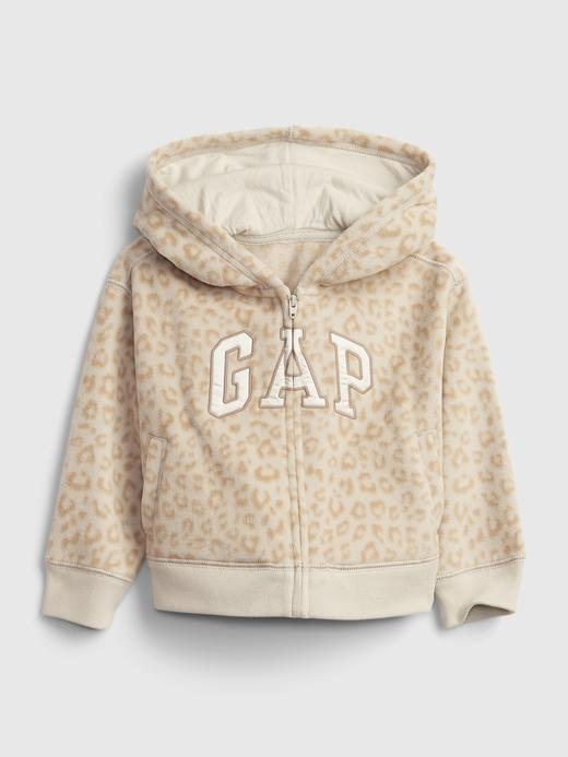 Kız Bebek Bej Gap Logo Kapüşonlu Sweatshirt
