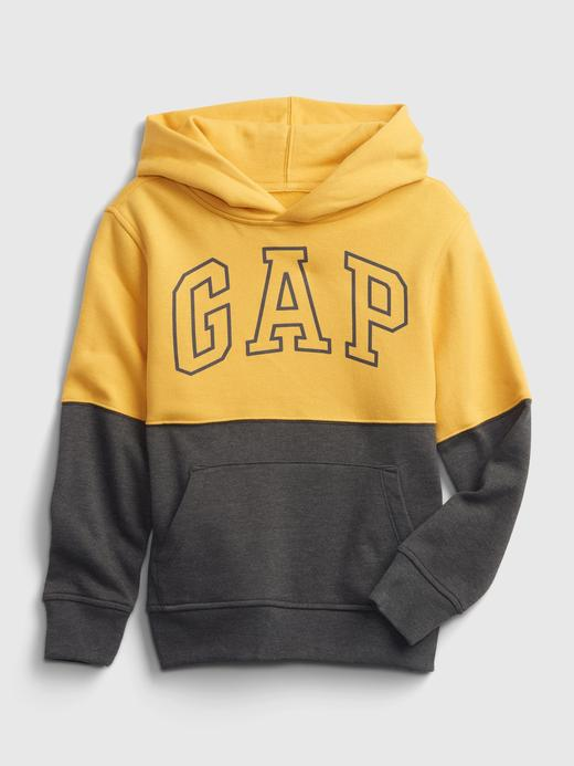 Erkek Çocuk Sarı Gap Logo Çok Renkli Kapüşonlu Eşofman Üst