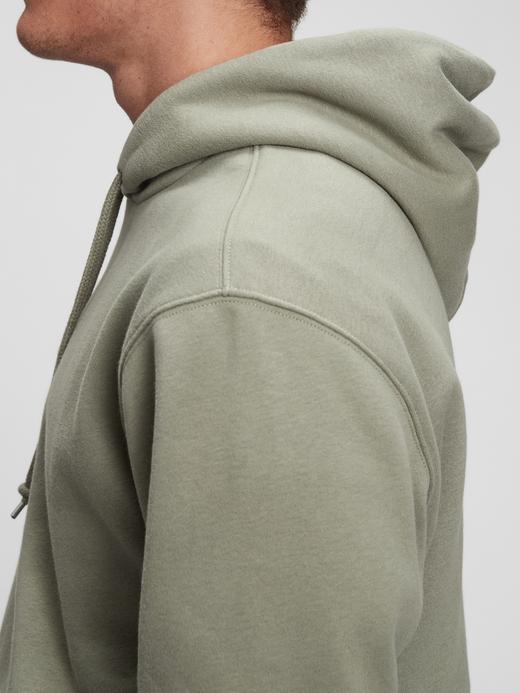 Erkek Turuncu Vintage Soft Kapüşonlu Sweatshirt