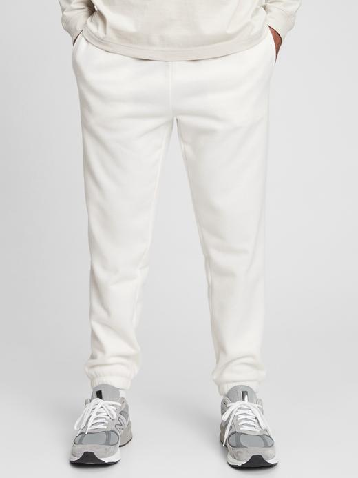 Erkek Beyaz Vintage Soft Jogger Eşofman Altı