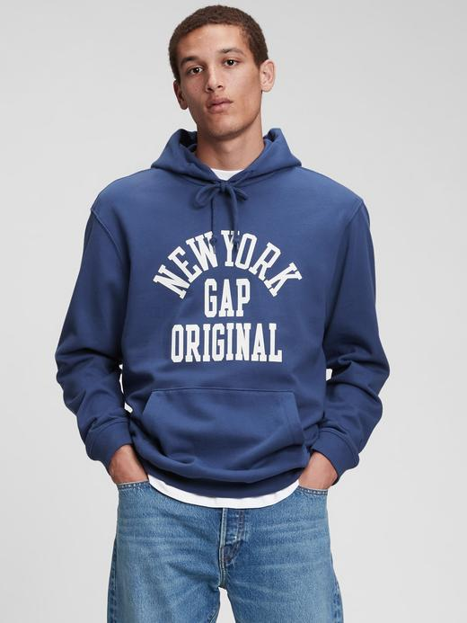 Erkek Kırmızı Gap Logo Kapüşonlu Sweatshirt
