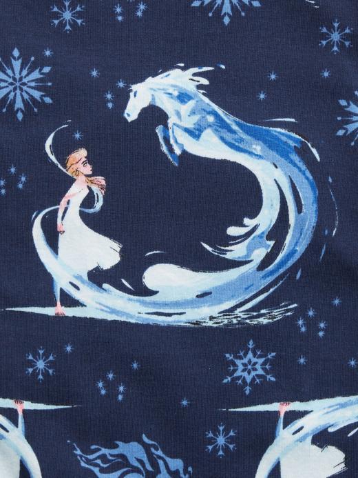 Kız Bebek Mavi %100 Organik Pamuk Disney Frozen Pijama Takımı