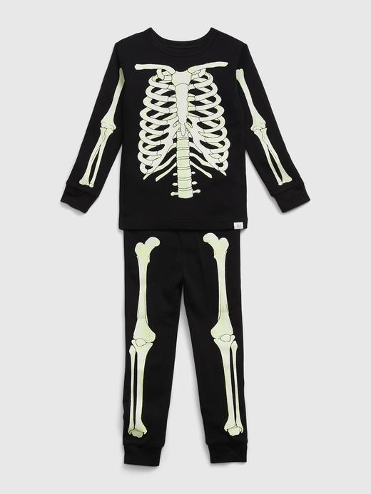 Kız Bebek Siyah %100 Organik Pamuk İnteraktif Pijama Takımı