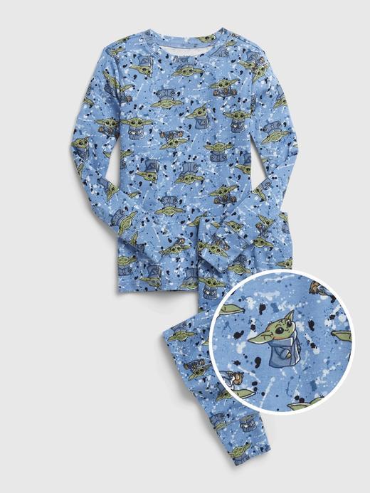 Erkek Çocuk Mavi %100 Organik Pamuk Star Wars™ Pijama Takımı
