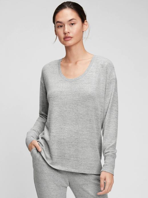 Kadın Gri Relaxed Softspun Tunic T-Shirt