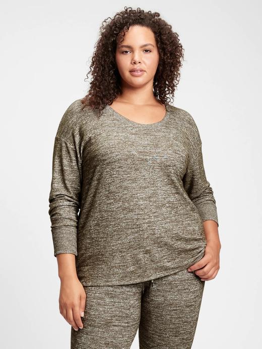 Kadın Yeşil Relaxed Softspun Tunic T-Shirt
