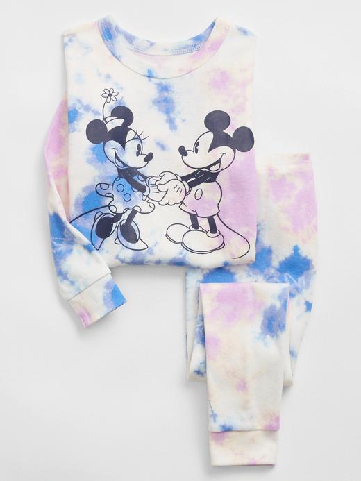 Kız Bebek Beyaz Disney Mickey Mouse %100 Organik Pamuk Pijama Seti