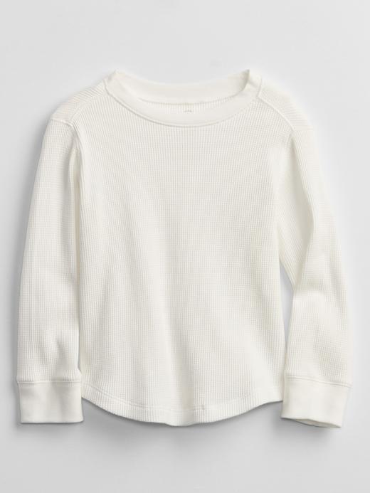 Erkek Bebek Beyaz Uzun Kollu Termal Sweatshirt