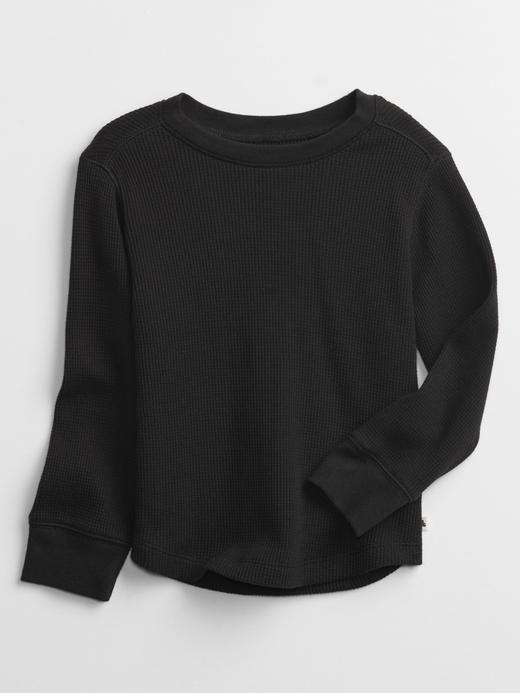 Erkek Bebek Siyah Uzun Kollu Termal Sweatshirt