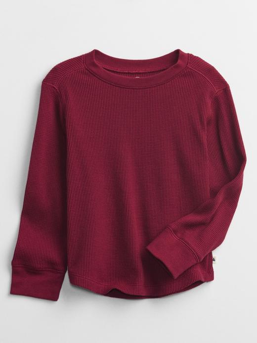 Erkek Bebek Kırmızı Uzun Kollu Termal Sweatshirt