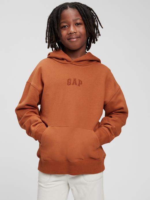 Erkek Çocuk Turuncu Good Kapüşonlu Sweatshirt