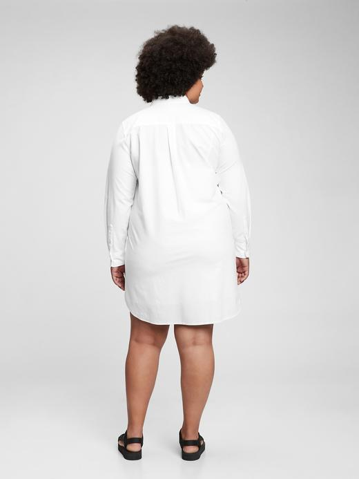 Kadın Beyaz Oxford Gömlek Elbise