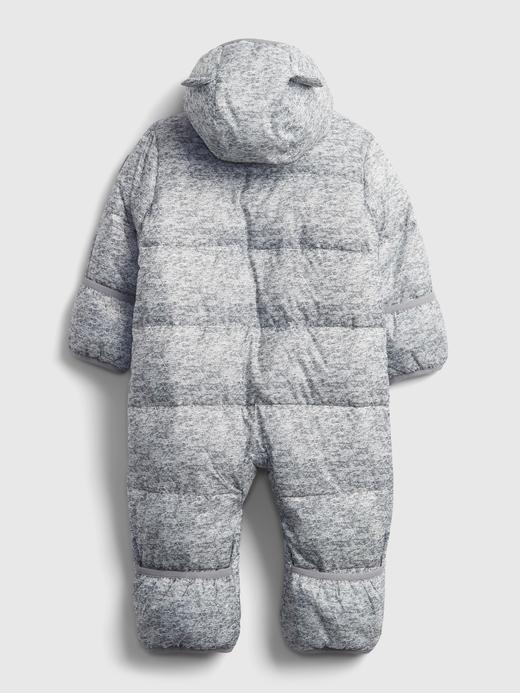Erkek Bebek Lacivert %100 Geri Dönüştürülmüş Puffer Şişme Tulum