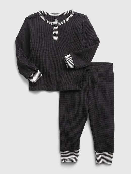 Erkek Bebek Siyah Uzun Kollu Takım