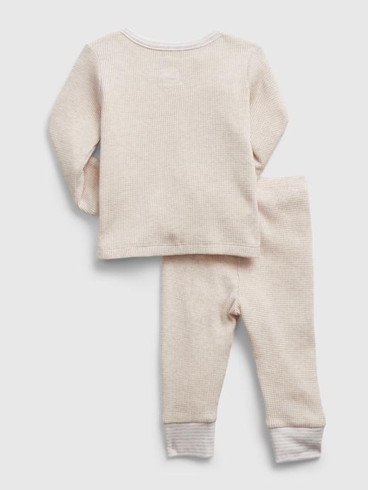 Erkek Bebek Pembe Uzun Kollu Takım