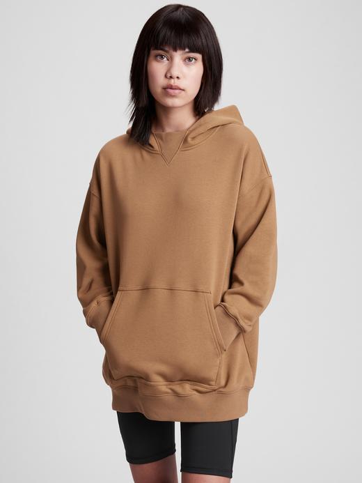 Genç Erkek Kahverengi Teen Oversize Kapüşonlu Sweatshirt