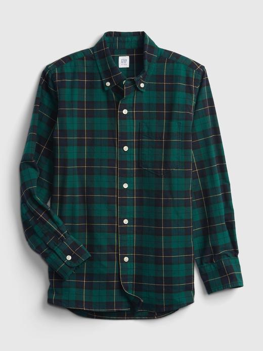 Erkek Çocuk Yeşil Oxford Gömlek