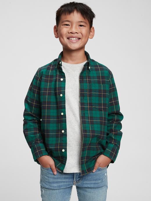 Erkek Çocuk Pembe Oxford Gömlek