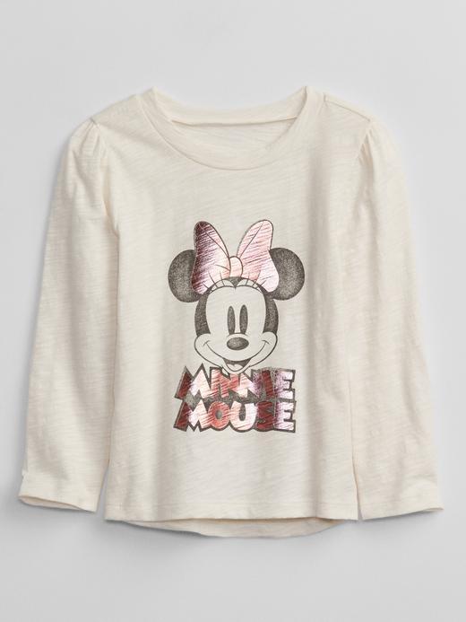 Kız Bebek Beyaz Disney Minnie Mouse T-Shirt